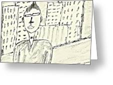 Self-portrait In Ny Greeting Card