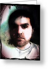 Self Portrait Metal Greeting Card