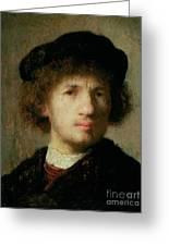 Self Portrait Greeting Card by Rembrandt Harmenszoon van Rijn