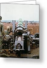 Self-propelled 8 Inch Howitzer M110 Lz Oasis R V N 1968 Greeting Card