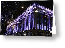 Selfridges London At Christmas Time Greeting Card
