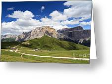 Sella Group. Italian Dolomites Greeting Card