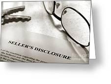 Seller Property Disclosure Greeting Card