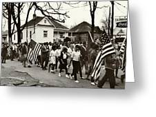 Selma To Montgomery Greeting Card by Benjamin Yeager