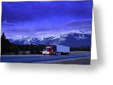 Semi-trailer Truck Greeting Card