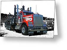 Semi Trucks Catr3120-13 Greeting Card