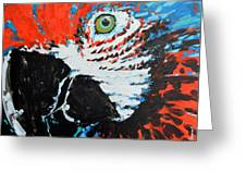 Semiabstract Parrot Greeting Card