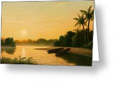 Seminole Sunset Greeting Card