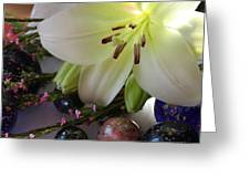 Send The Light Lily With Marbles Greeting Card