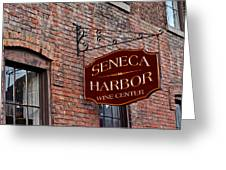 Seneca Harbor Wine Center Greeting Card