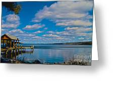 Seneca Lake At Glenora Point Greeting Card