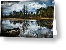 Seney And The Rowboat Greeting Card