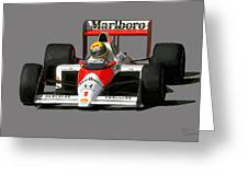 Senna '89 Greeting Card