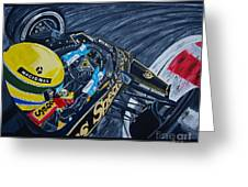 Senna Onboard Greeting Card