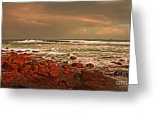 Sennen Storm Greeting Card by Linsey Williams