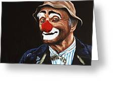 Senor Billy The Hobo Clown Greeting Card