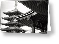 Senso-ji Temple In Tokyo  Greeting Card