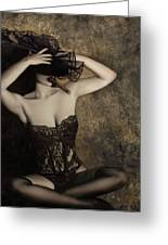 Sensuality In Sepia - Self Portrait Greeting Card by Jaeda DeWalt