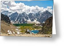 Sentinel Pass And Larch Valley Greeting Card