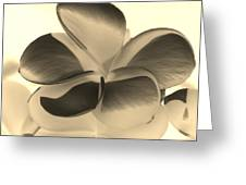 Sepia Bloom Negative Greeting Card