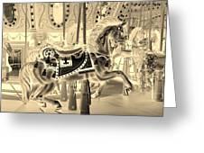 Sepia Horse Greeting Card