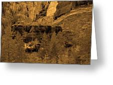 Sepia Red Rock Sedona Greeting Card