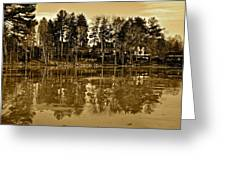 Sepia Reflection Greeting Card