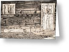 Sepia Rustic Old Colorado Barn Door And Window Greeting Card by James BO  Insogna