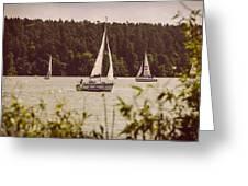 Sepia Sailing Greeting Card