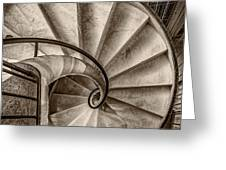 Sepia Spiral Staircase Greeting Card
