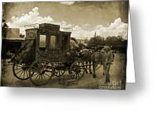 Sepia Stagecoach Greeting Card
