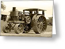 Sepia Tractor Greeting Card