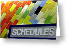 Septa Schedules Greeting Card