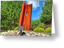 September 11th Memorial Mantua N J Greeting Card by Nick Zelinsky