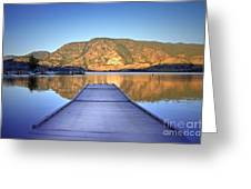 September 1st At Skaha Lake Greeting Card
