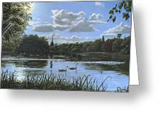 September Afternoon In Clumber Park Greeting Card