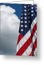 September Flag Greeting Card