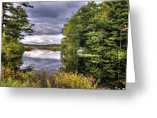 September Storm Clouds Greeting Card