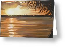 September Sunset 7 32pm Haulover Park Greeting Card