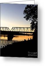 September Sunset On The River Greeting Card
