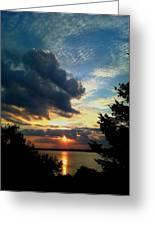 September Sunset Greeting Card