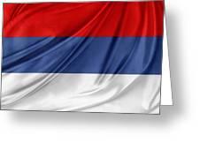 Serbian Flag Greeting Card