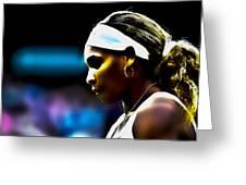 Serena Williams Focus Greeting Card