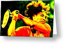 Serena Williams In A Zone Greeting Card