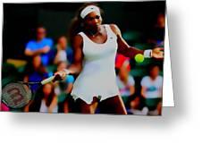 Serena Williams Making It Look Easy Greeting Card