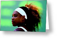 Serena Williams Match Point Greeting Card