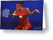 Serena Williams Painting Greeting Card by Paul Meijering