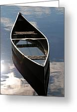 Serene Canoe With Sky Greeting Card by Renee Forth-Fukumoto