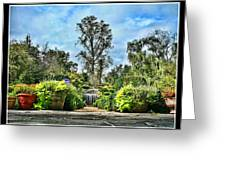 Serene Is The Garden. Greeting Card