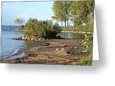 Serene Shores Of The St. Lawrence Greeting Card by Margaret McDermott